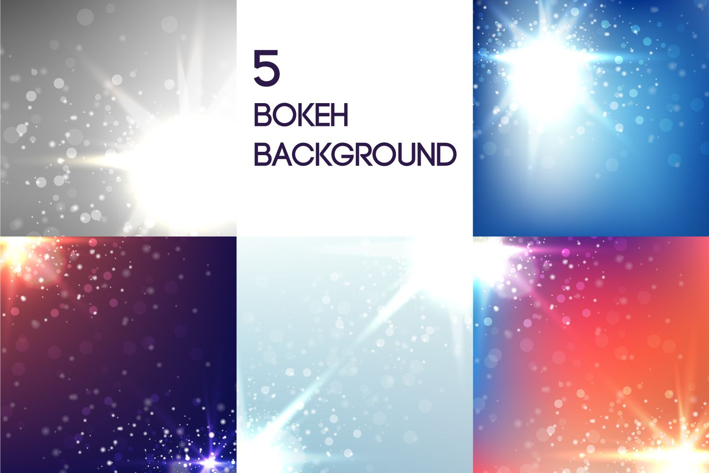 5 Bokeh Background (Graphic) by Manuchi · Creative Fabrica