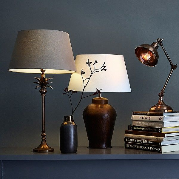 Beth handcrafted eastern inspired copper table lamp