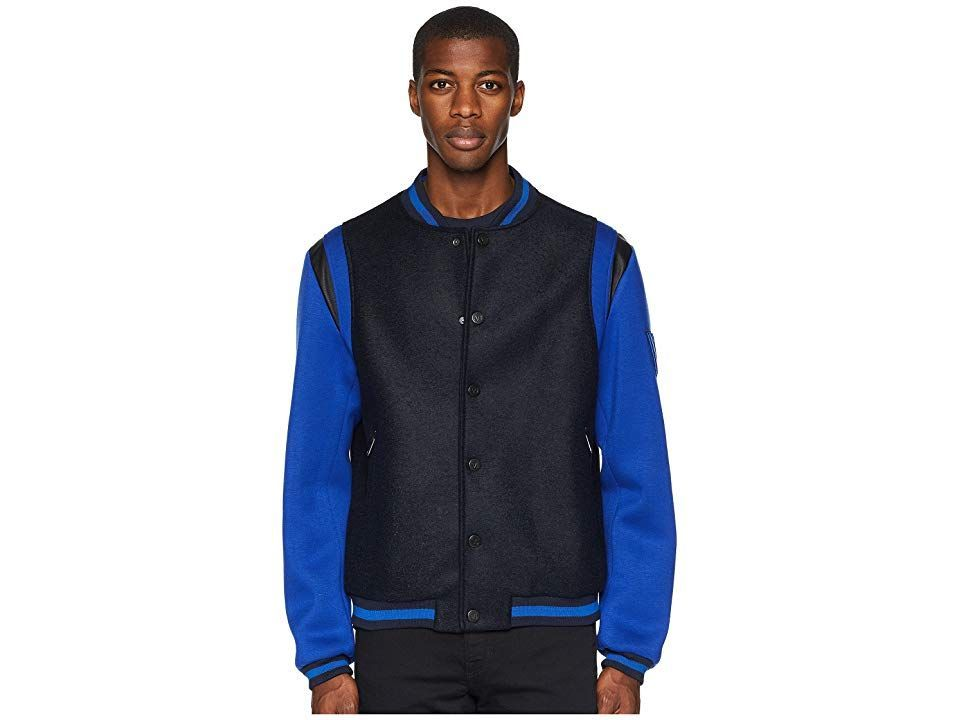 Versace Jeans Couture Varsity Jacket Men's Coat Black/Blue #varsityjacketoutfit Versace Jeans Couture Varsity Jacket Men's Coat Black/Blue #varsityjacketoutfit