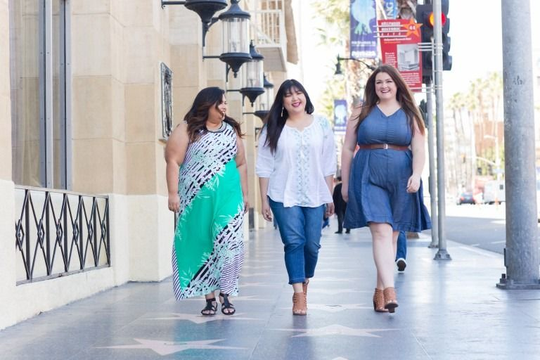 "one day in la with catherines"" plus size fashion blogger, lovely"