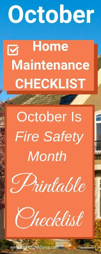 Photo of October Home Maintenance & Safety Checklist. Know these