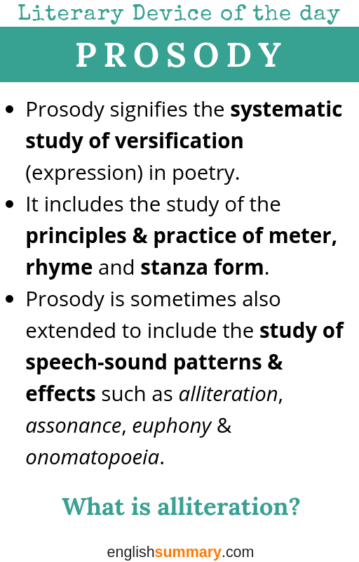 Prosody Definition Example In Literature Teaching English Writing Skill Notes Prose Paraphrase