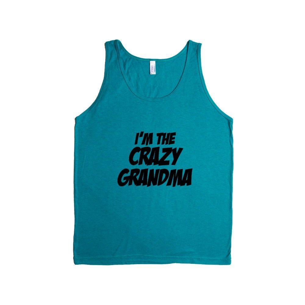 I'm The Crazy Grandma Mother Mothers Grandmother Grandparents Children Kids Parent Parents Parenting Unisex T Shirt SGAL4 Men's Tank