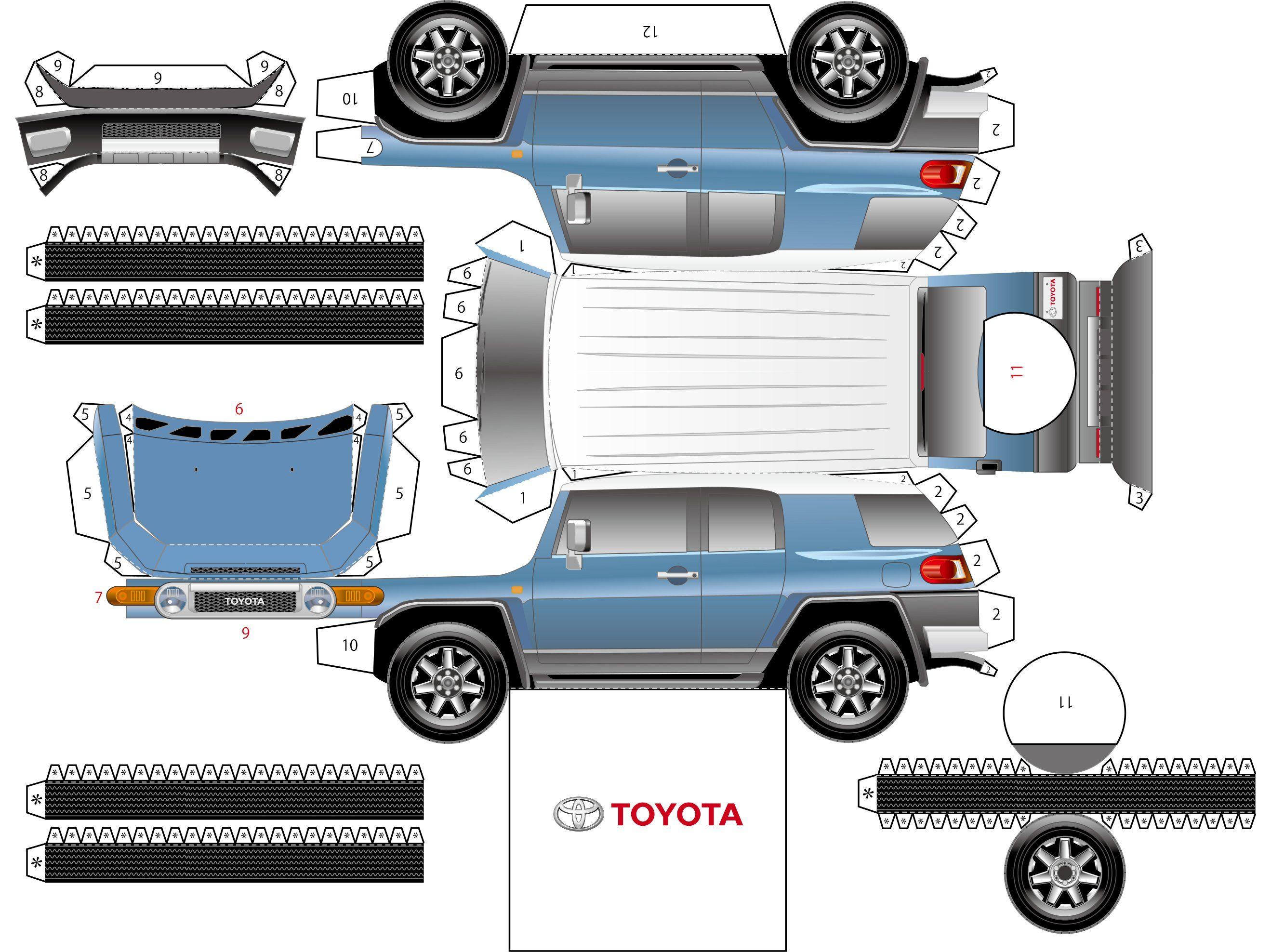 Toyota Fj Cruiser Paper Model Car Paper Models Paper Car