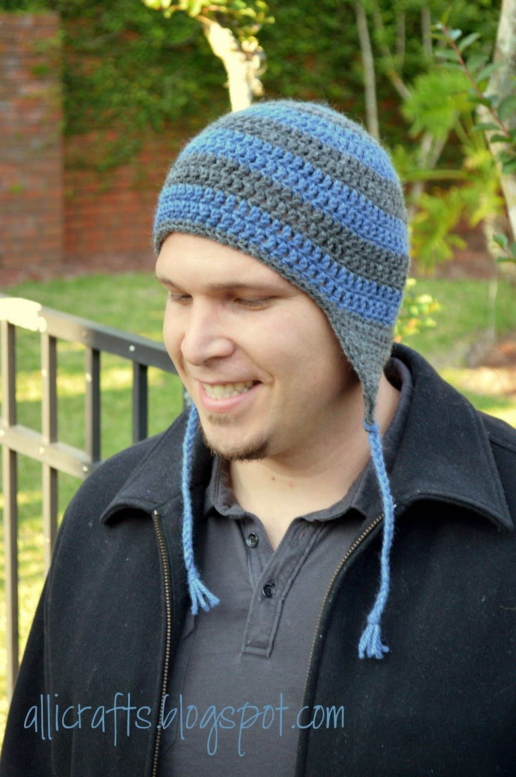 1e0c5f54e4f Alli Crafts  Free Pattern  Earflap Hat - Adult Medium Large ...