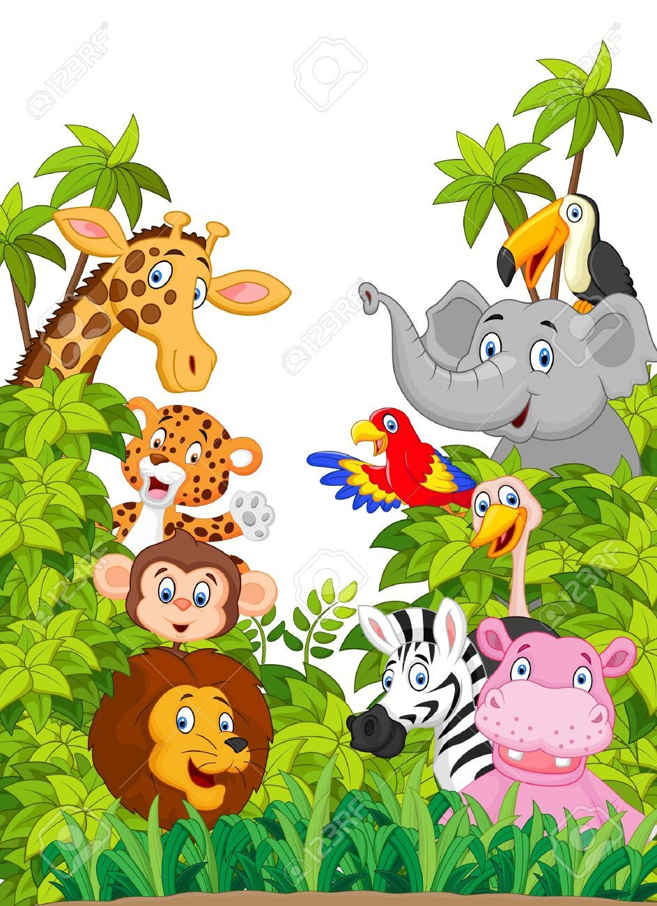 Cartoon collection animal of zoo , AD, collection,