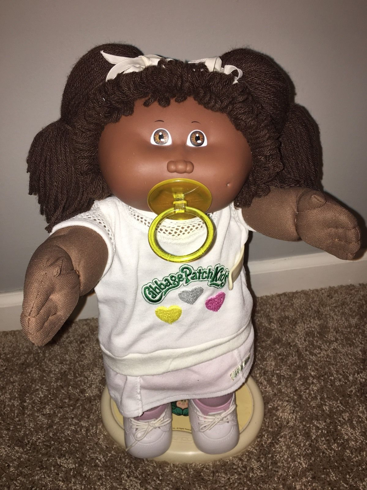 African American Twin Cabbage Patch Kids Blue Velvet Outfits 1985 Ebay Cabbage Patch Kids Pacifier Girl Cabbage Patch Kids Dolls