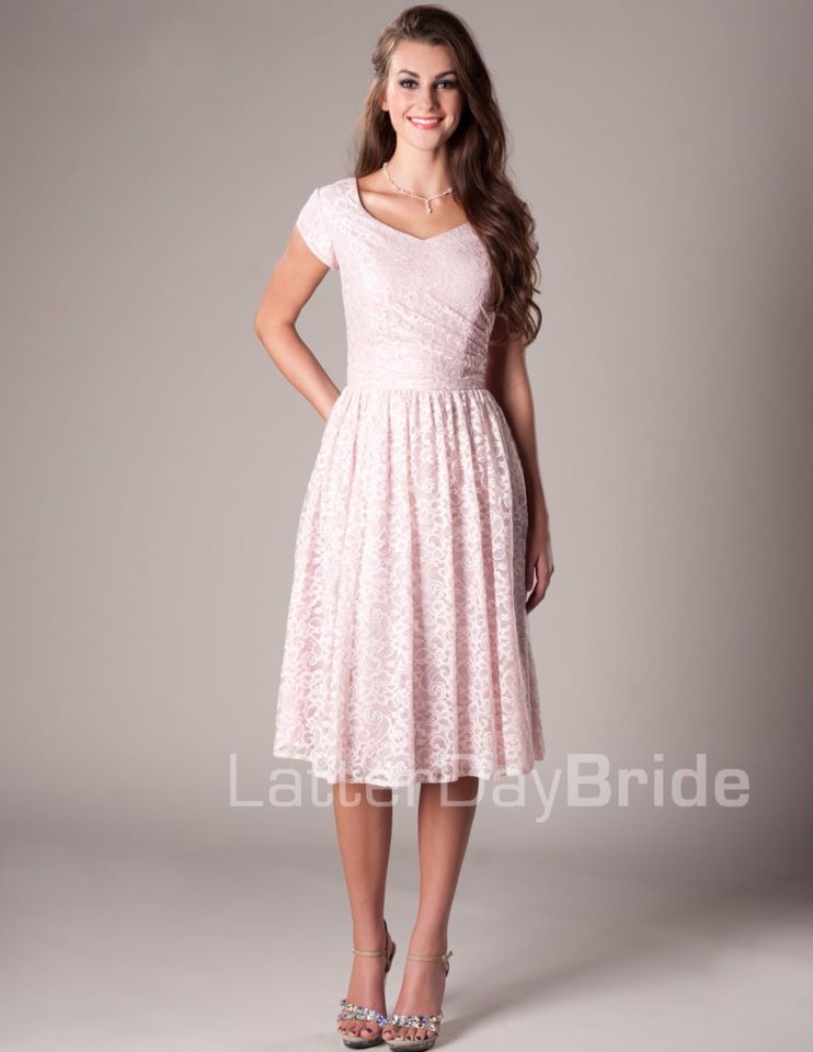 Lovely modest pink dress