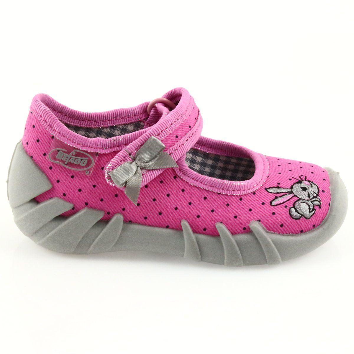 Befado Buty Dzieciece Kapcie Balerinki 109p169 Czarne Szare Rozowe Baby Shoes Shoes Kids Shoes