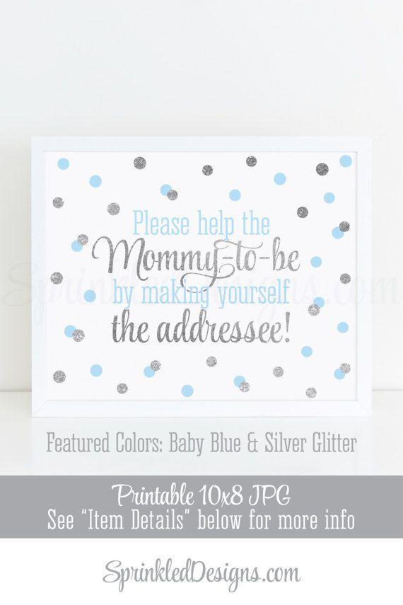 Baby Shower Address an Envelope Sign, Envelope Addressing Station ...