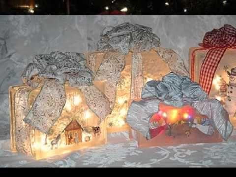 Easy Glass block christmas decoration - YouTube