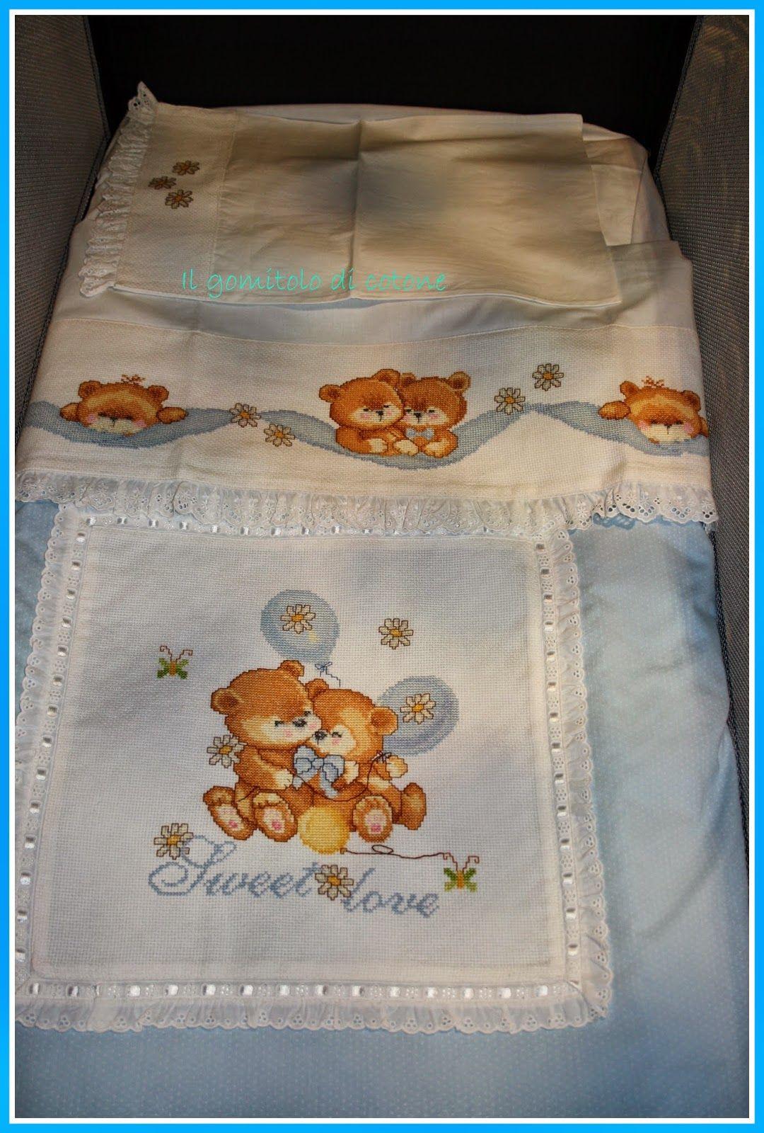 Il gomitolo di cotone teneri orsacchiotti baby punto de for Il gomitolo di camilla