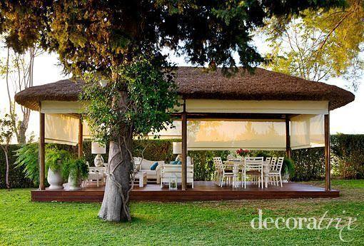 Chozo cenador porche muebles jardin outdoor furniture - Cenadores de jardin ...