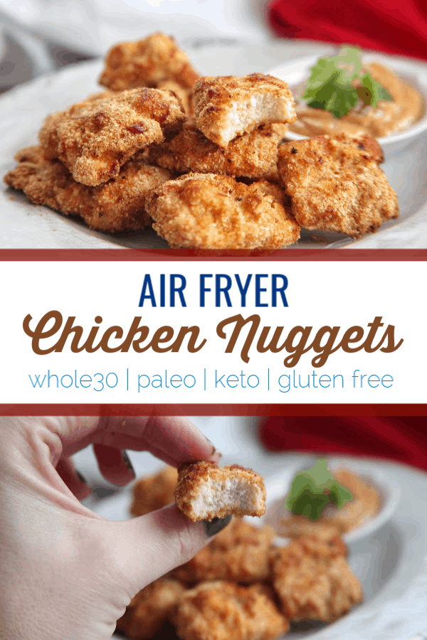 These air fryer chicken nuggets use the air fryer to make