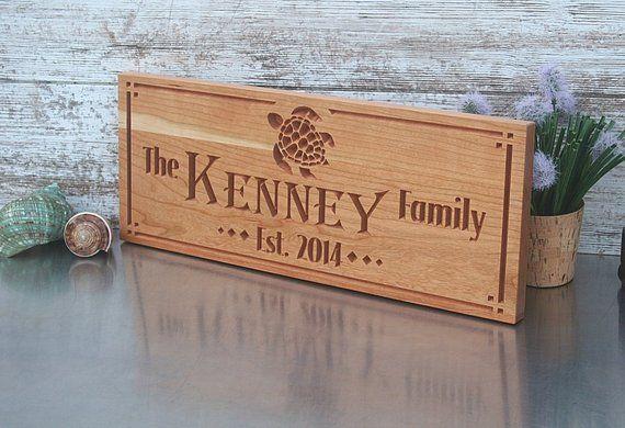 Custom Engraved Family Name Wood Sign