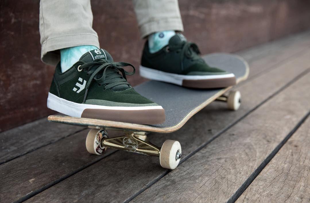 Etnies Shoes, Etnies Marana Vulc Green/White/Gum Willow