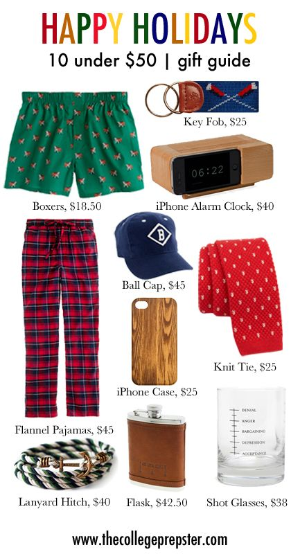 College Prep Holiday Gifts Under 50 For Guys