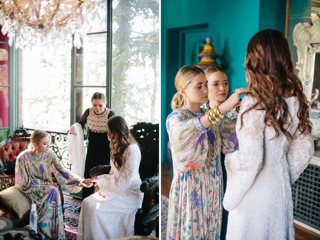 Laidback European Inspired Wedding Molly Asher Mary Kate Olsen Wedding Mary Kate Mary Kate Ashley