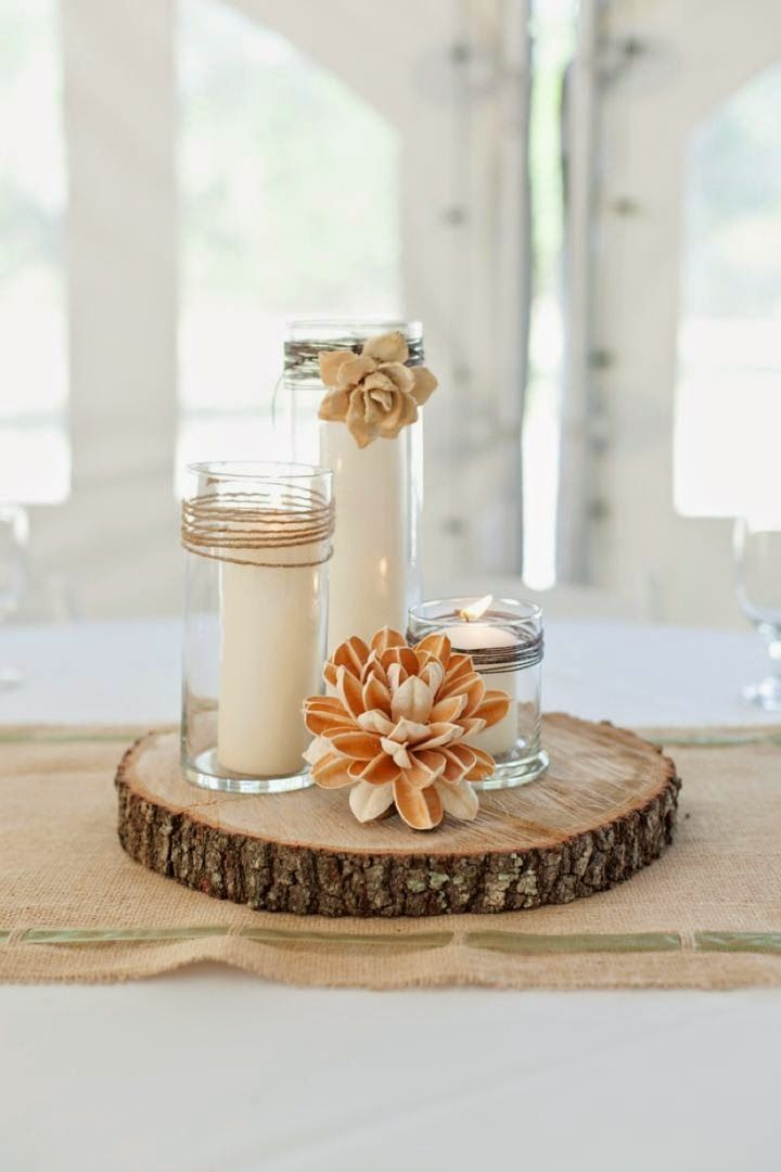 31 centros de mesa para boda con velas todo inspiraci n - Botellas con velas ...