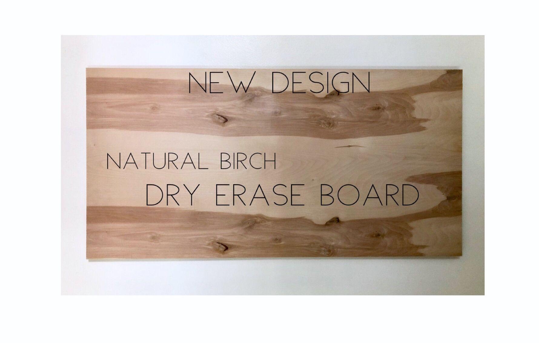 "NATURAL WOOD 48""x24"" Modern Rustic Kitchen Dry Erase Board ..."