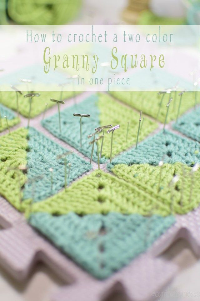 Two Color Granny Square | Granny squares, Squares and Crochet