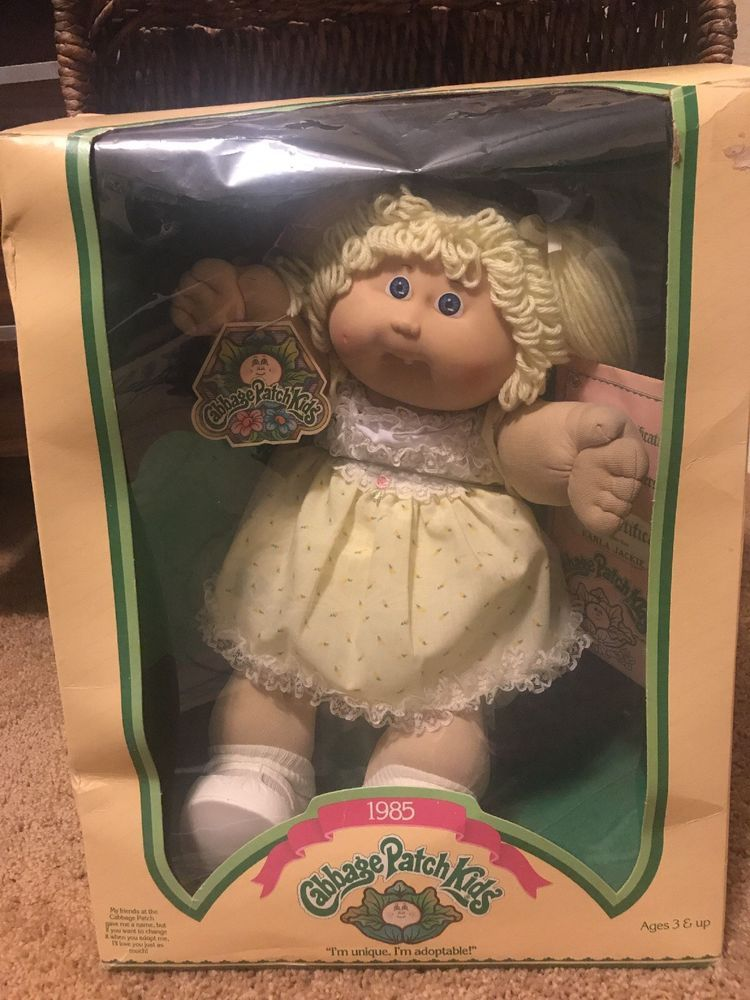 1985 Cabbage Patch Kids Blond Ponytail Blue Eyes Karla Jackie Never Out Of Box Cabbage Patch Kids Vintage Cabbage Patch Dolls Patch Kids
