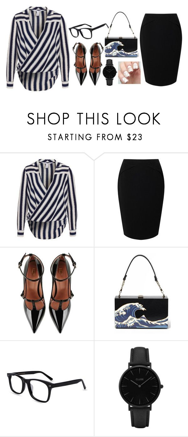 """Untitled #165"" by sejal1043 ❤ liked on Polyvore featuring Jacques Vert, RED Valentino and CLUSE"