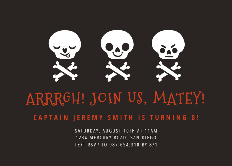 Pirate Skull Birthday Invitation Template Free Greetings Island Birthday Invitation Templates Halloween Party Invitation Template Free Halloween Invitations