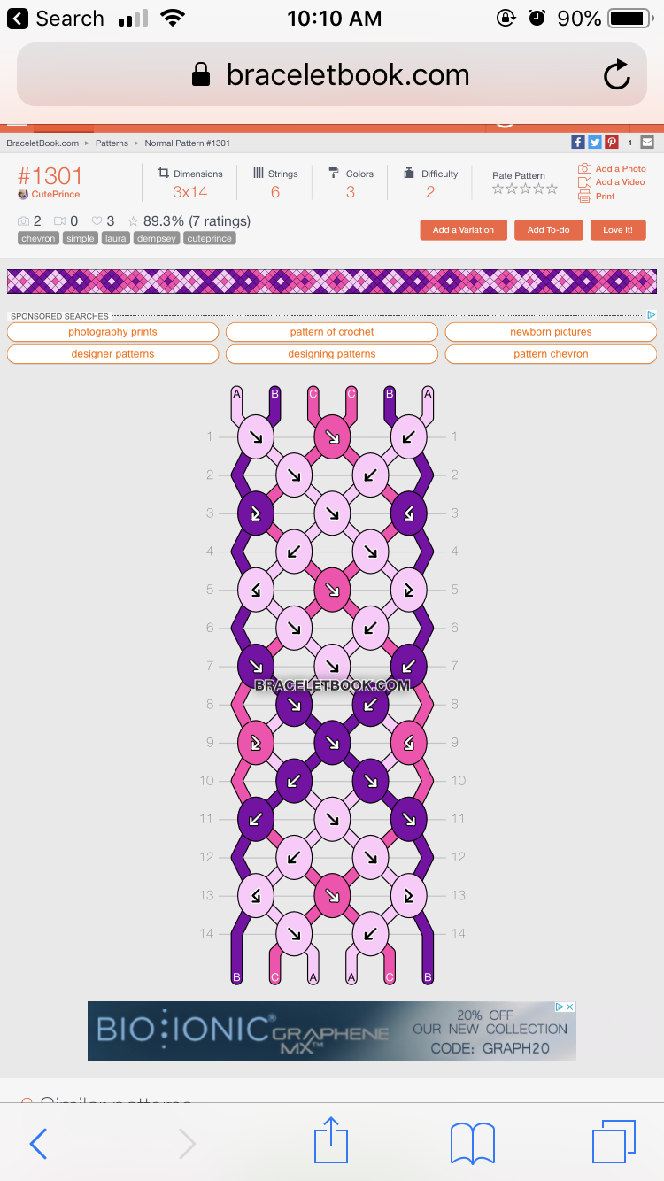 Patterns | BraceletBook.com