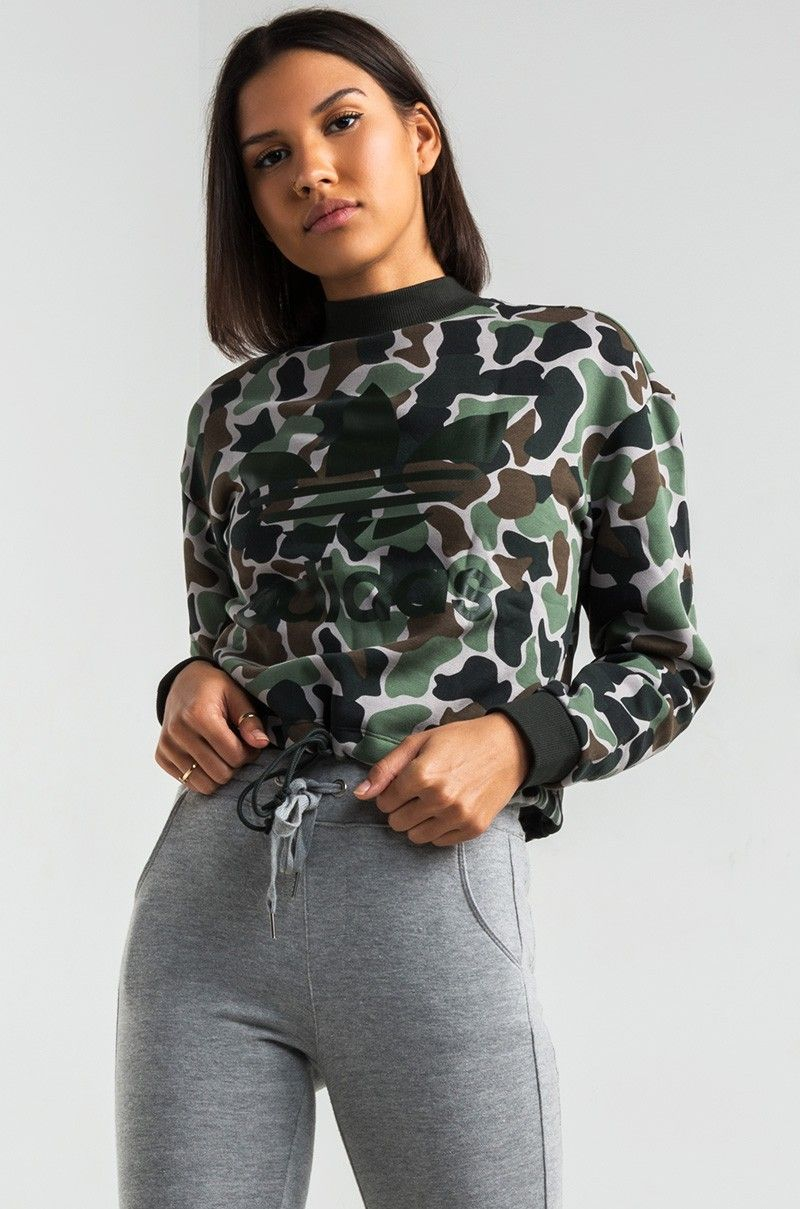 Adidas Camo Print Sweatshirt Drawstring Sweatshirt Adidas Outfit Camo Sweatshirt [ 1209 x 800 Pixel ]