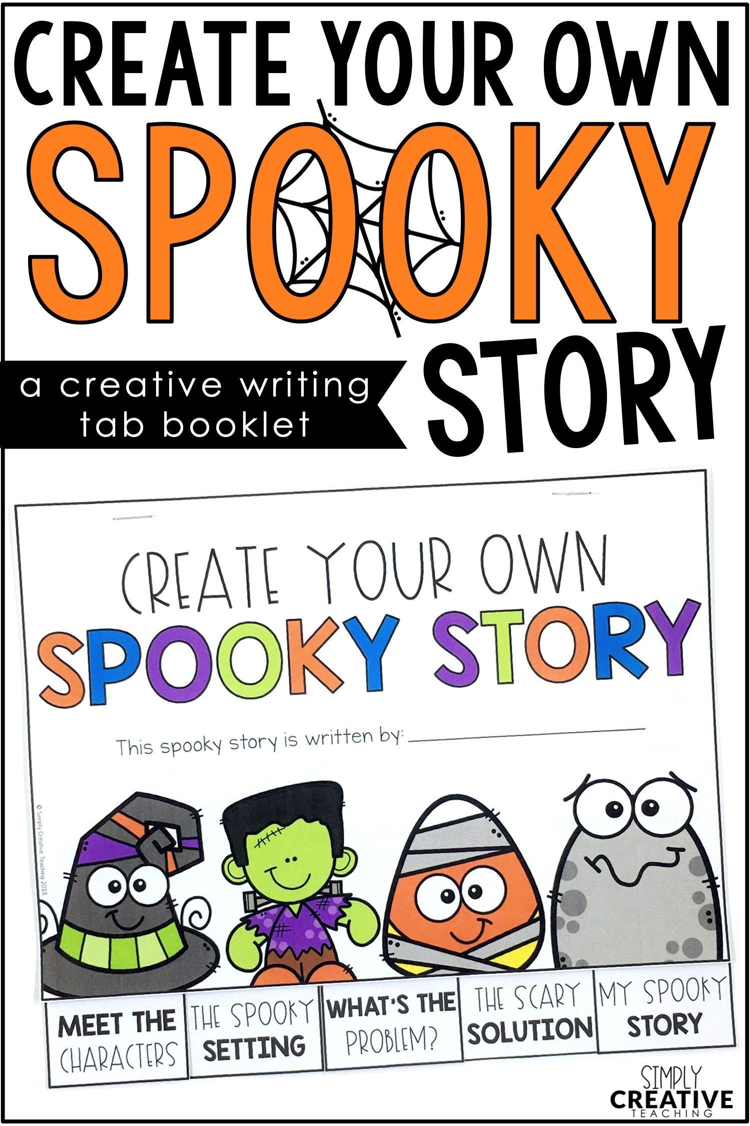 Halloween Writing Book Spooky Story