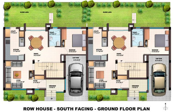 Modern row house hledat googlem modular house design for Modern row house plans