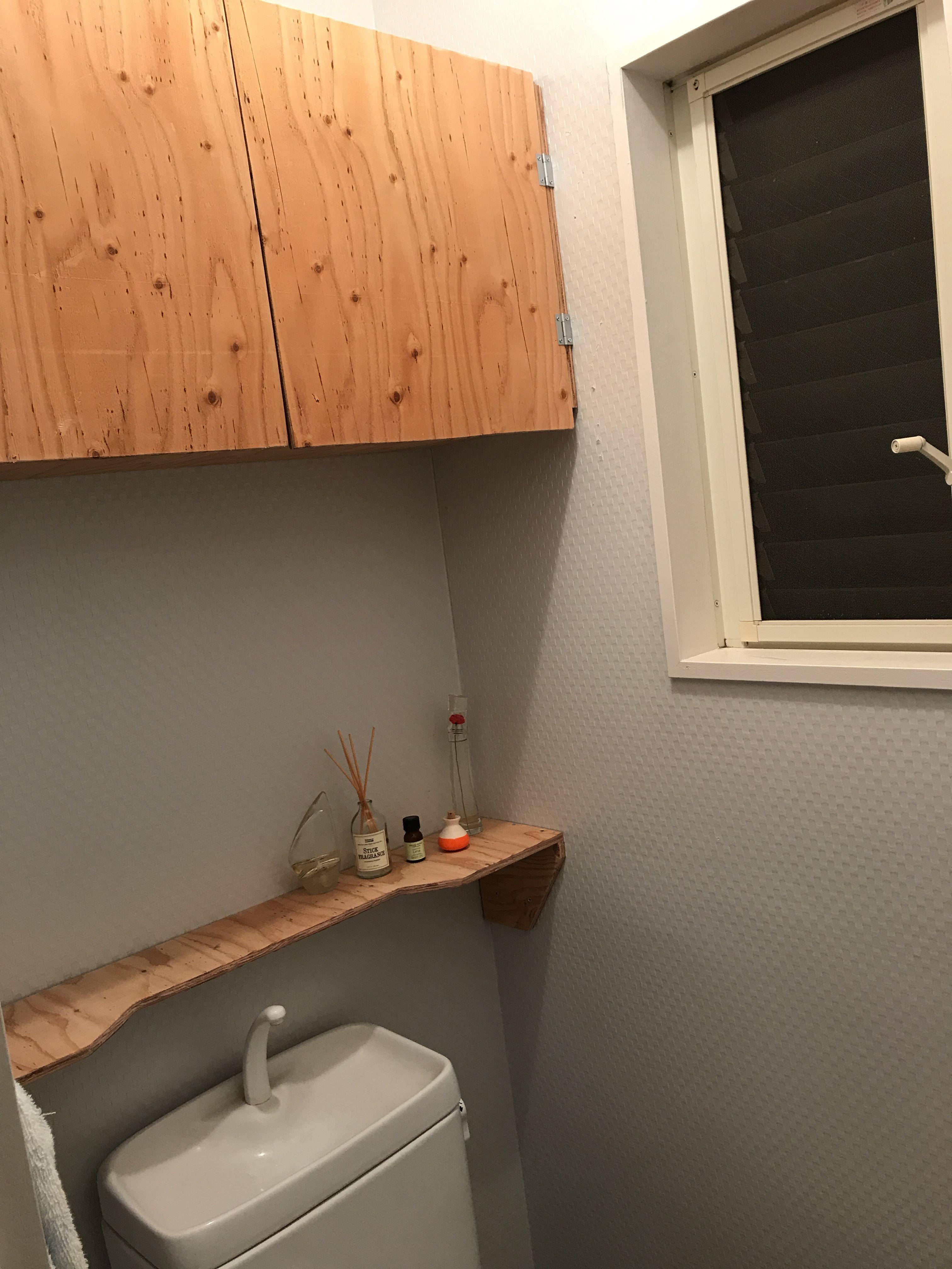 トイレに収納扉を作りました Diyレシピ 収納 トイレ 扉