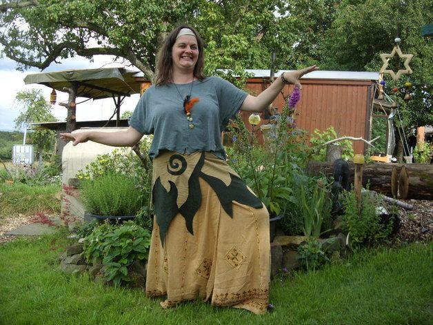 Hippie-Mode - Elfenrock-Hüftschmeichler-Feenlook-BIG HIPPIE-Goa - ein Designerstück von BigHippie bei DaWanda