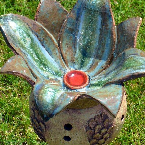 Lotosovy Kvet Nizsi Kvet 1ks Zbozi Prodejce Keramikas Fler Cz Clay Art Ceramic Flowers Hand Built Pottery