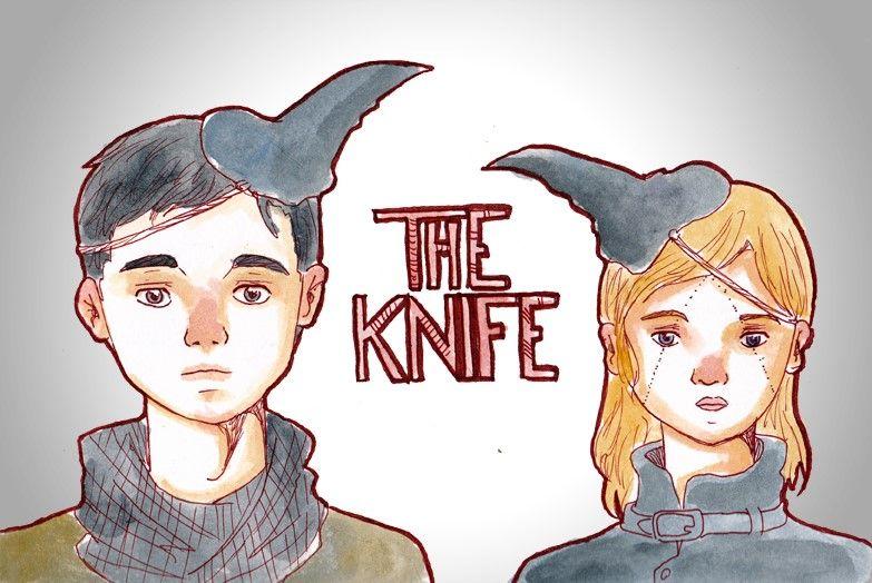 Ilustración fan art de la banda The Knife