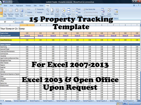 15 Property Tracking u2013 Expense and Rental Income Tracking Template - rental management template