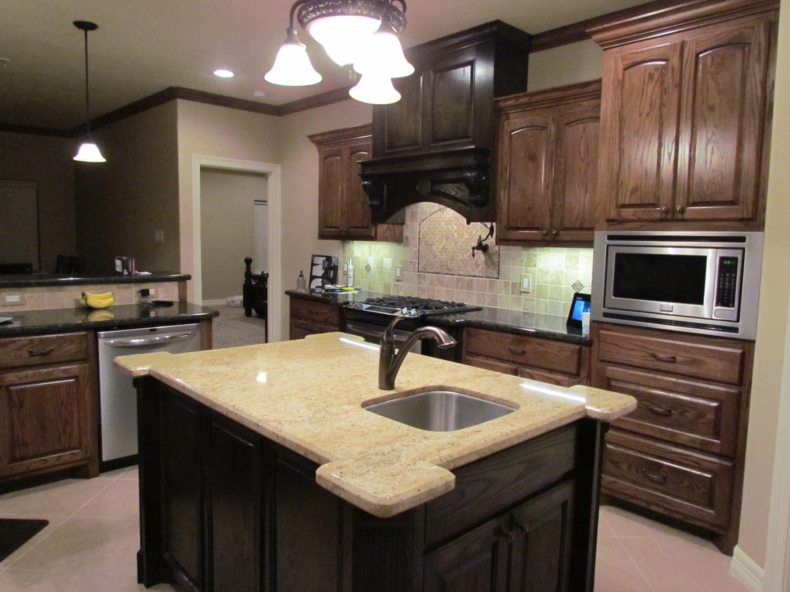 Kitchen island, pot filler, marble tile | Kitchen, Kitchen ...