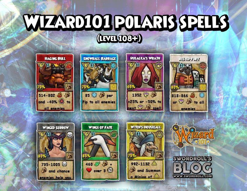 Wizard101 Polaris Level 108 Spells | wizard101 | Wizard101