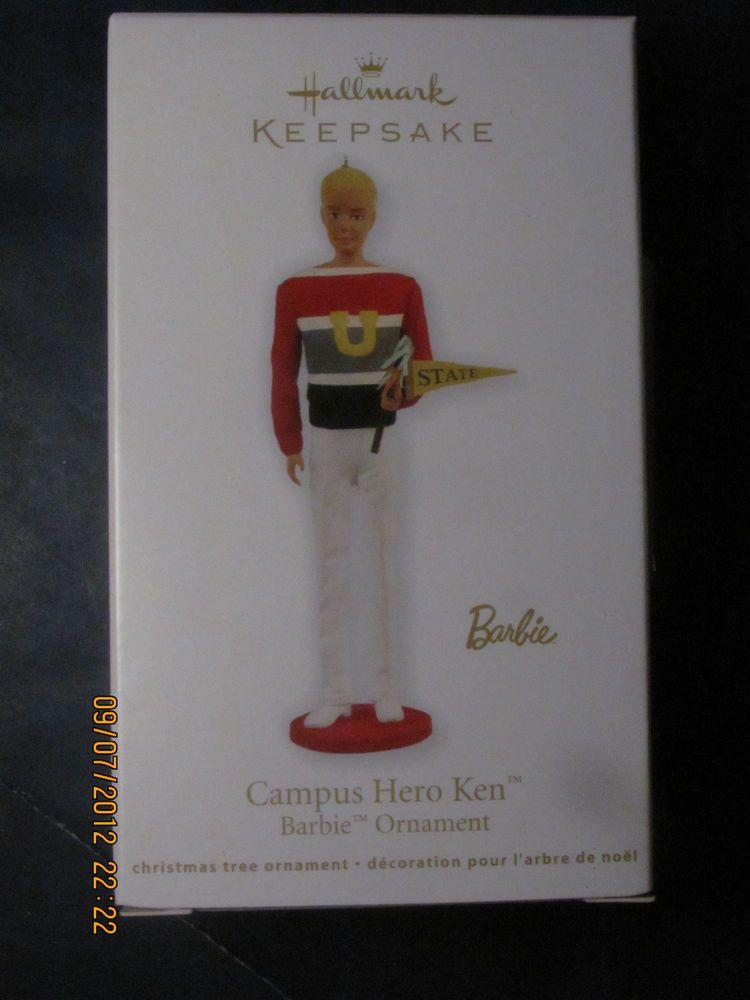 Campus Hero Ken Barbie Ornament   2011 $17.95 Hallmark Keepsake NIB