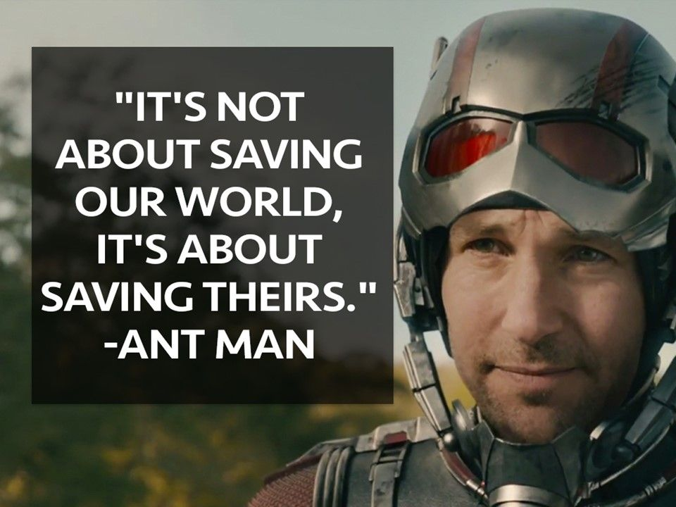 """""""It's not about saving our world, it's about saving theirs"""
