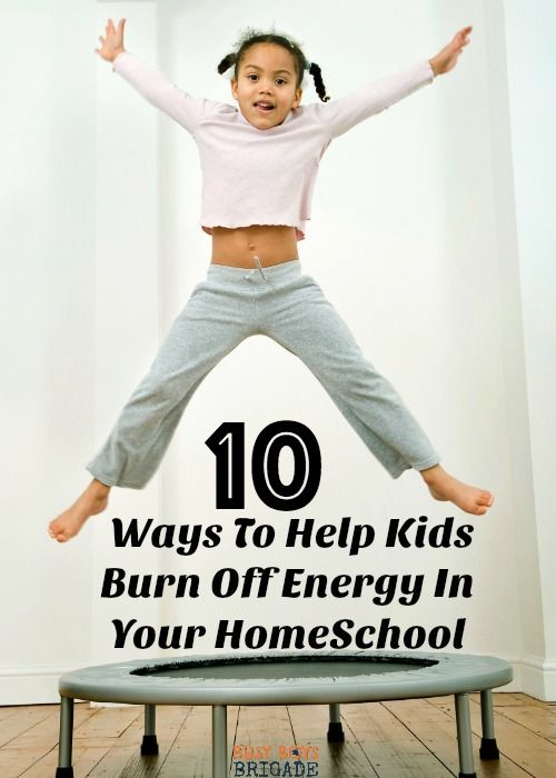 Discover 10 ways to help kids burn off energy in your homeschool. Practical yet fun tips on helping your homeschool when energy levels are high.
