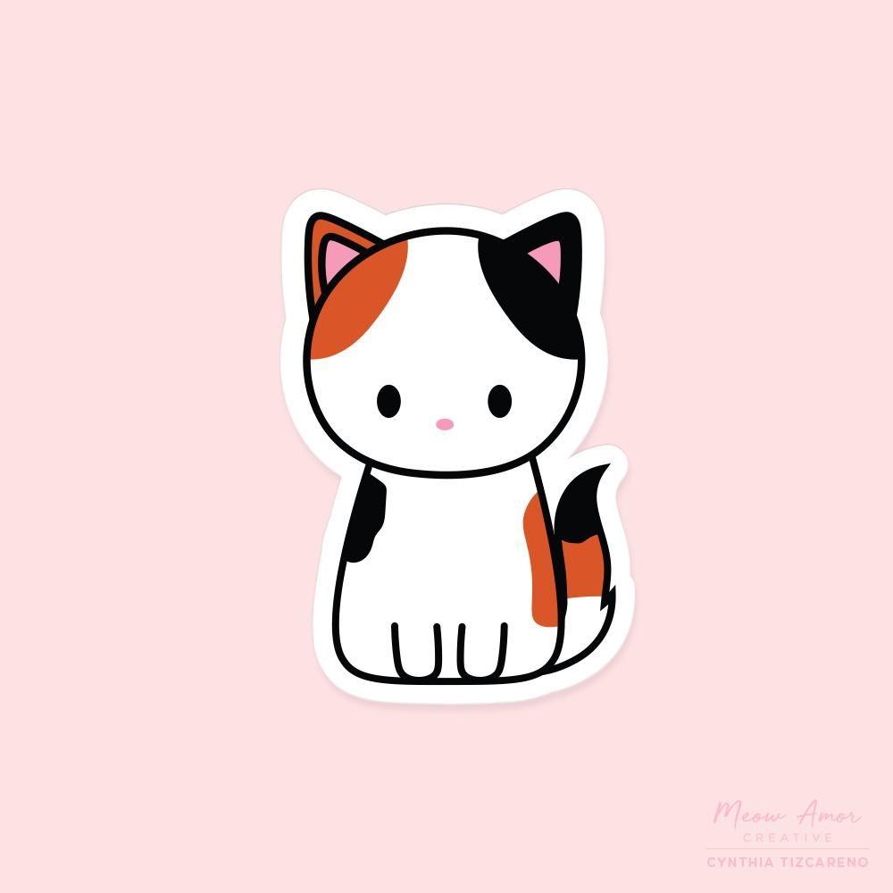 cat Sticker vinyl Here is a cute kitten-sticker-vinyl-pet