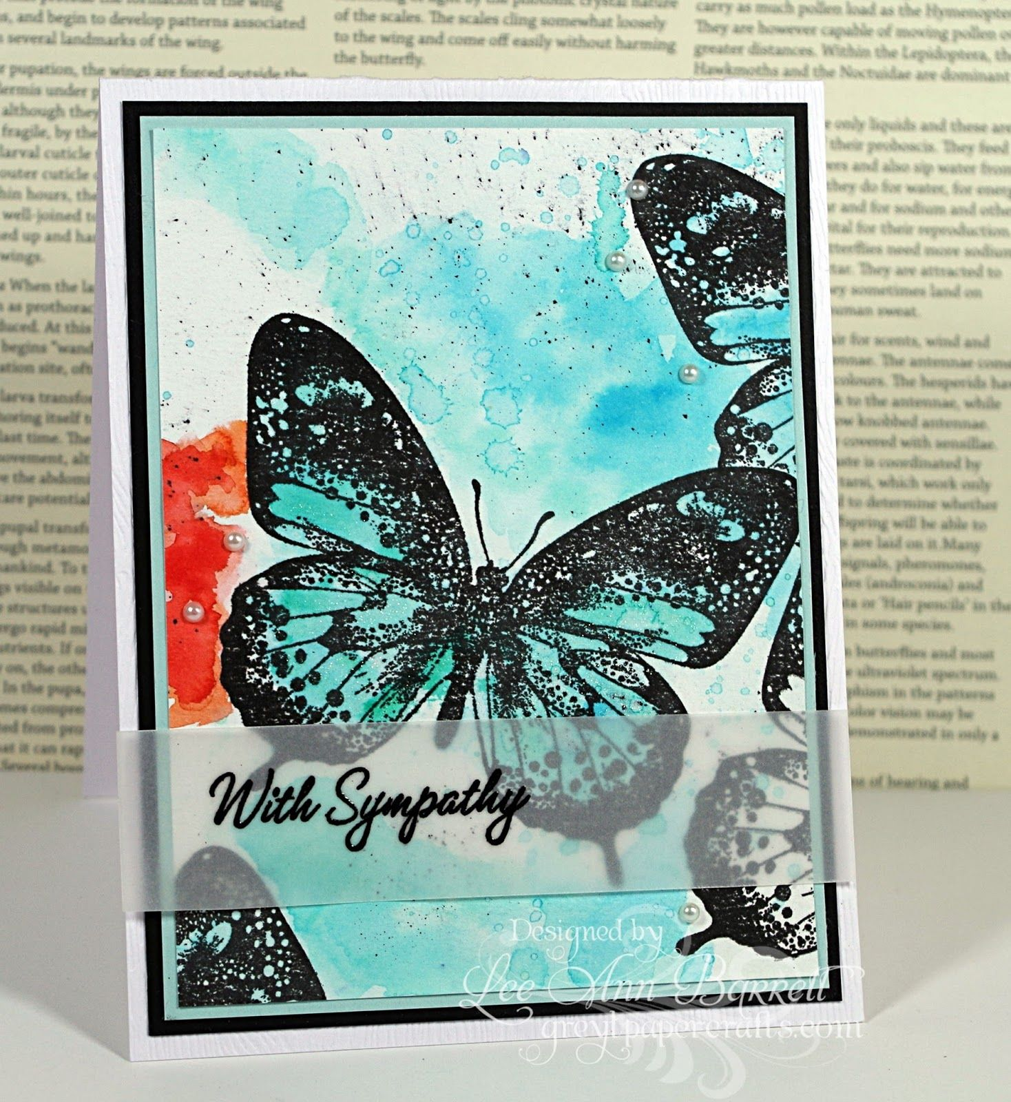 New Butterfly Sweet sunday sketch, Butterfly cards