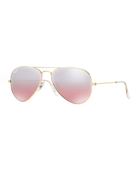 fadecf6f1a4 ... where can i buy mirrored flash aviator sunglasses by ray ban at  bergdorf goodman. 6fe77