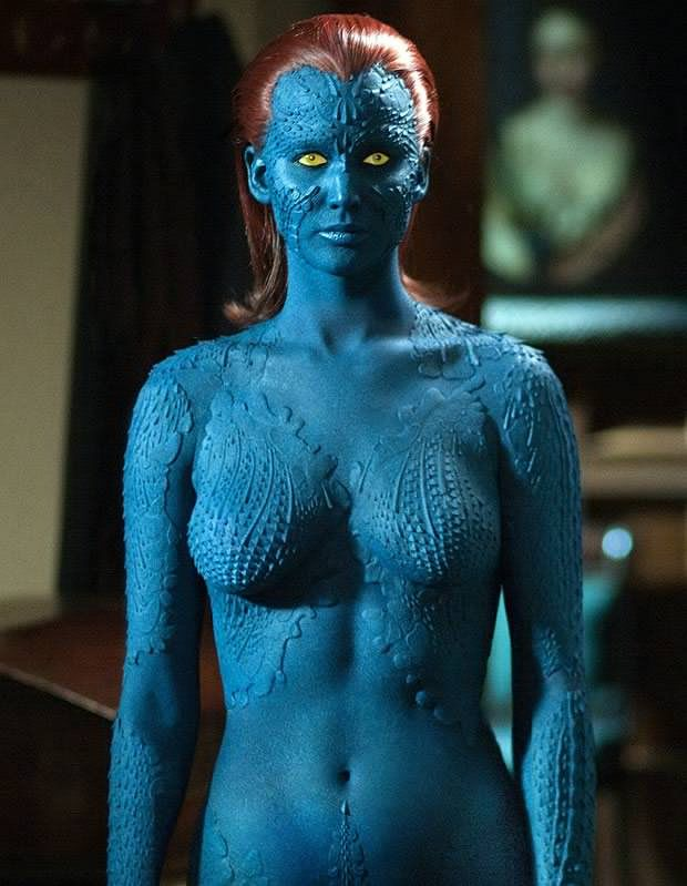 Jennifer Lawernce Mystique X Men Very Hot Mutant Jennifer Lawrence Mystique Jennifer Lawrence Mystique Marvel