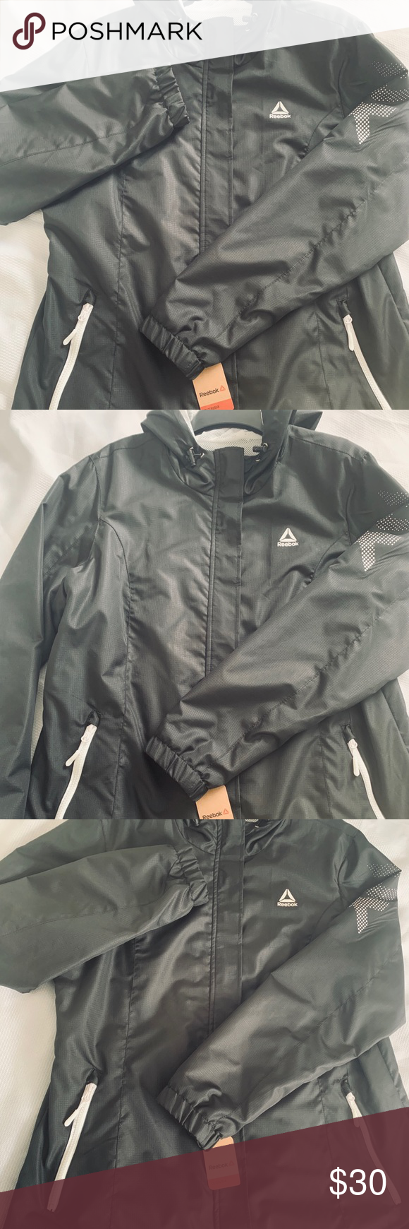 Reebok Jacket Color Black Size Xl This Reebok Windbreaker Is Perfect And Light Color Black 100 Polyester Machine Washable Style Jackets Black Color Black [ 1740 x 580 Pixel ]