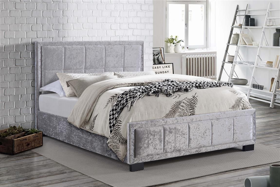 Hannover Fabric Bed Velvet bed frame, Fabric king size