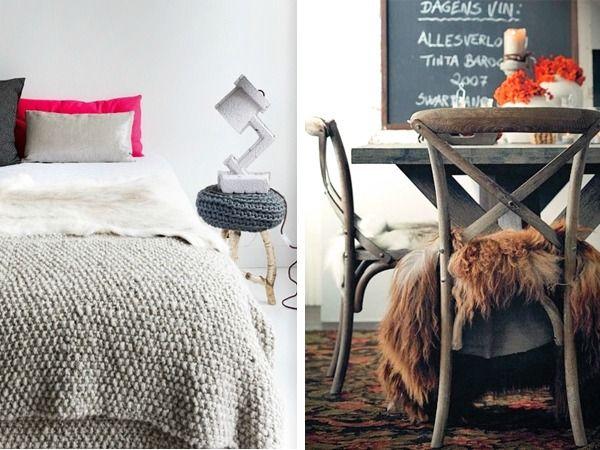Fell Decken Und Kuschelige Möbel Sind Eine Ausgezeichnete Wahl Für Ihr Home  Im Herbst Und Im Winter, Da Sie Freude Und Wohlbefindet Mit Natürlichen Look