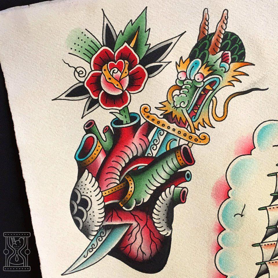 Pin De Oni Nguyễn En Bun Tatuajes Viejos Tatuajes Vieja Escuela